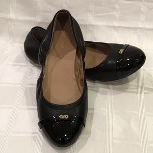 Cole Haan Elise Capped Toe Leather Ballet Flat